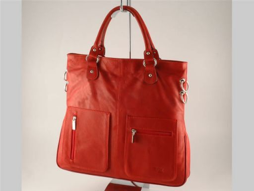 Camilla Borsa Shopping Grande in pelle Rosso TL140491