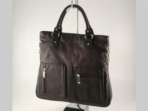 Camilla Borsa Shopping Grande in pelle Nero TL140491