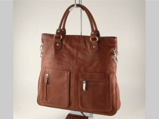 Camilla Lady leather bag Brown TL140491