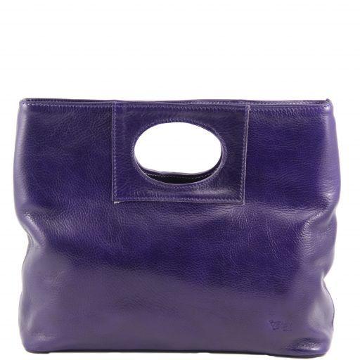 Mary Кожаная сумка с круглой прорезной ручкой Фиолетовый TL140495