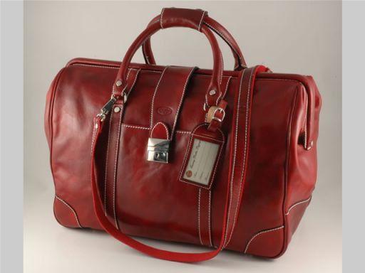 Helsinki Travel leather bag Красный TL140499